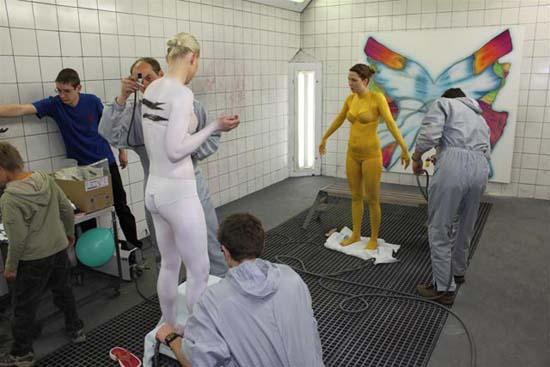 Bodypainting in der Werkstatt